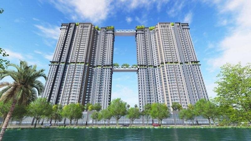 Phối cảnh 2 tháp đôi Sky Oasis khu đô thị Ecopark