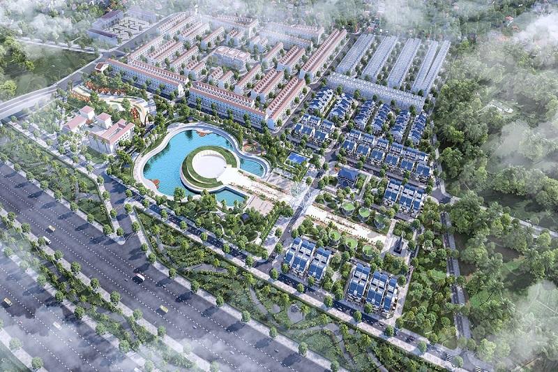 Phối cảnh 3 Sol Lake Villa Biệt thự Đô Nghĩa - Dương Nội - Nam Cường