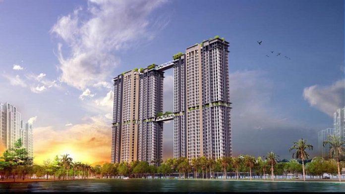 Phối cảnh 3 tháp đôi Sky Oasis khu đô thị Ecopark