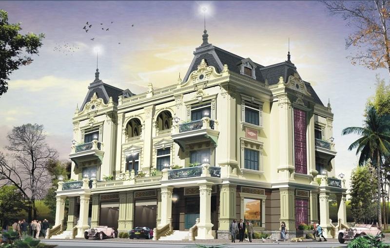 Phối cảnh biệt thự lâu đài Hòa Lạc Premier Residence