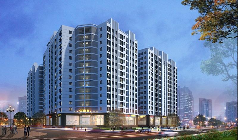Phối cảnh chung cư dự án Khu đô thị Minh Đức - Mê Linh