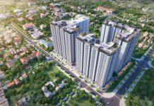Phối cảnh chung cư Hưng Thịnh Lake Side Tây Nam Linh Đàm