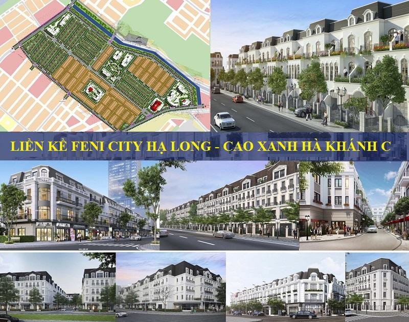 Phối cảnh liền kề dự án Feni City Hạ Long - Cao Xanh Hà Khánh C