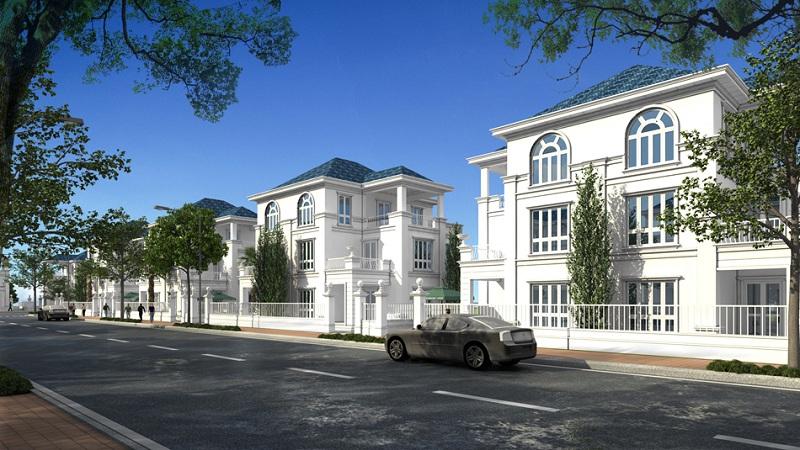 Phối cảnh biệt thự song lập dự án Khu đô thị Minh Đức - Mê Linh