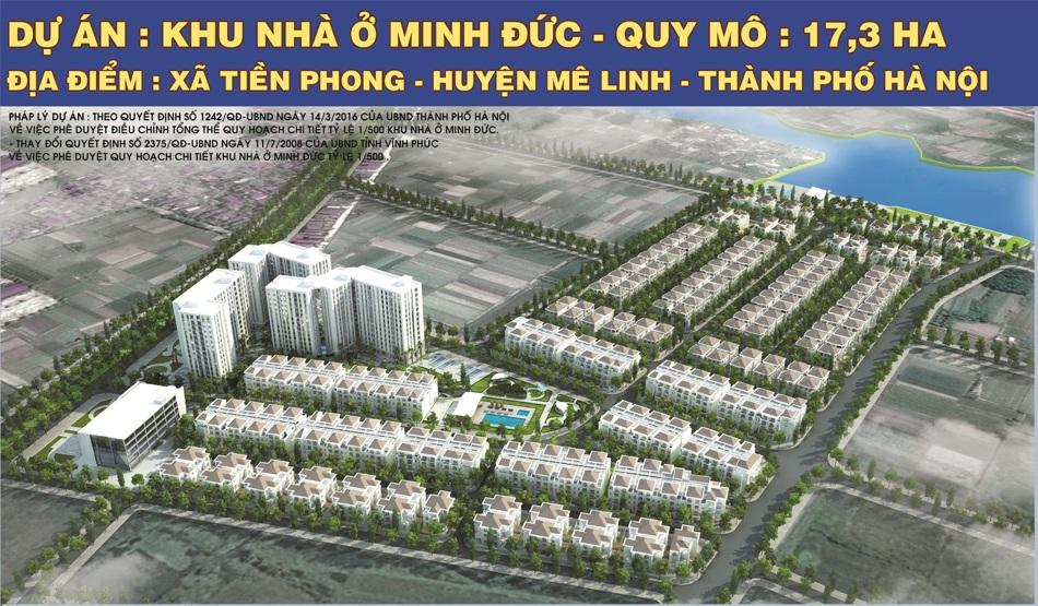 Phối cảnh tổng thể dự án Khu đô thị Minh Đức - Mê Linh