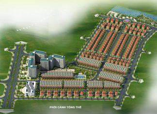 Phối cảnh tổng thể 1 Khu đô thị Minh Đức - Mê Linh