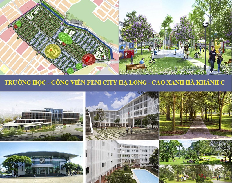 Phối cảnh trường học, công viên dự án Feni City Hạ Long - Cao Xanh Hà Khánh C