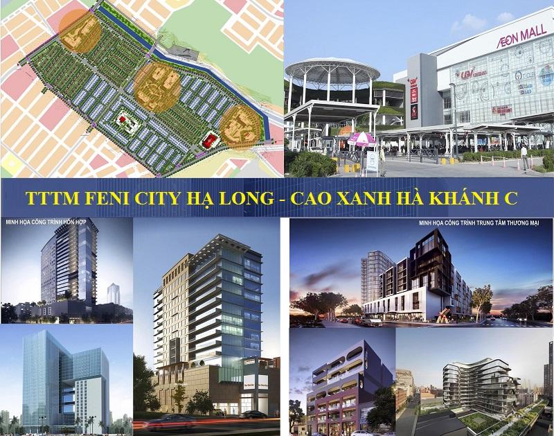 Phối cảnh TTTM dự án Feni City Hạ Long - Cao Xanh Hà Khánh C