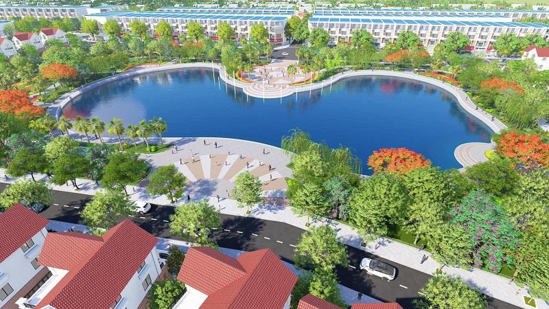 Quảng trường dự án Phố Thắng Central Park Hiệp Hòa - Bắc Giang