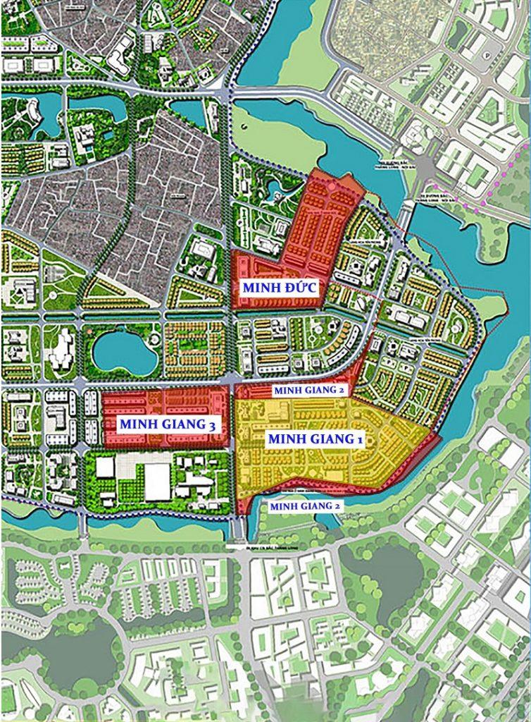 Quy hoạch các khu đô thị xã Tiền Phong - Mê Linh
