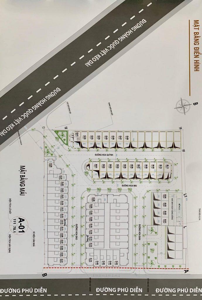 Quy hoạch dự án Liền kề Phú Diễn Vinadic