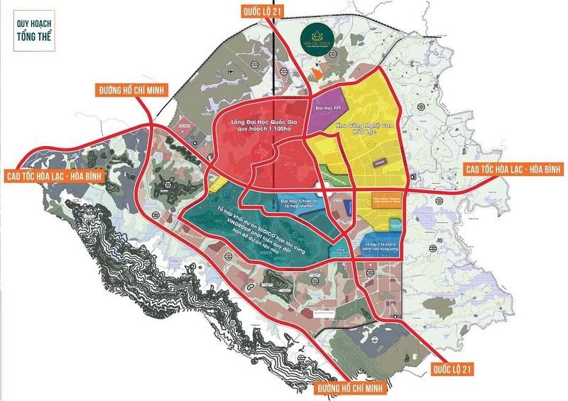 Quy hoạch khu đô thị vệ tinh Hòa Lạc - Hòa Lạc Lotus