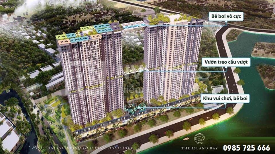 Quy hoạch tháp đôi Sky Oasis khu đô thị Ecopark