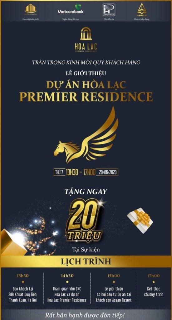 Sự kiện mở bán lớn dự án Hòa Lạc Premier Residence 20/06/2020