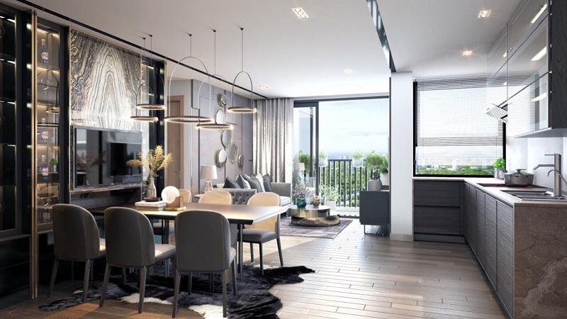 Thiết kế phòng bếp dự án chung cư Sky Oasis Ecopark