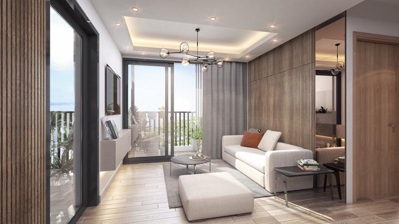 Thiết kế phòng khách dự án chung cư Sky Oasis Ecopark