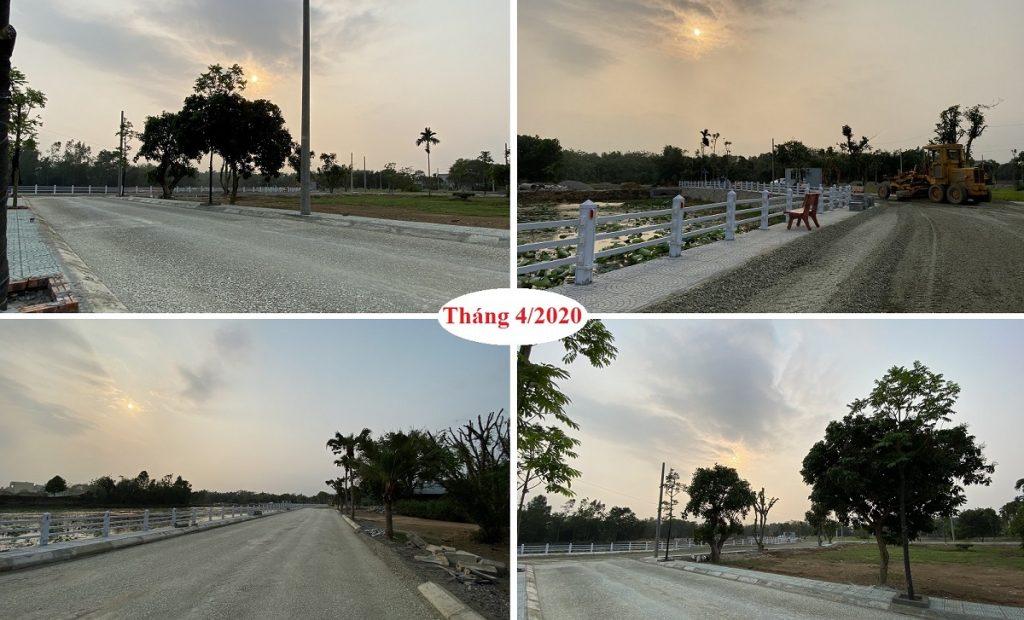 Tiến độ dự án đất nền Hòa Lạc Lotus - Bình Yên tháng 4/2020