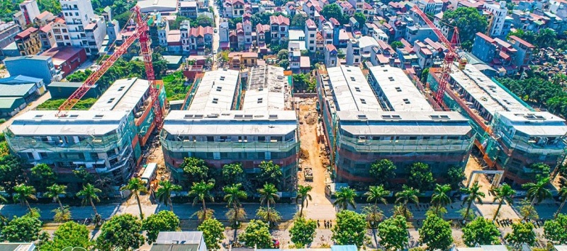 Tiến độ 2 liền kề - nhà phố Thủy Trúc Ecopark