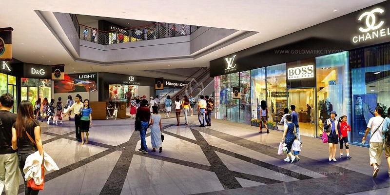 Trung tâm mua sắm dự án Mê Linh Vista City 2020