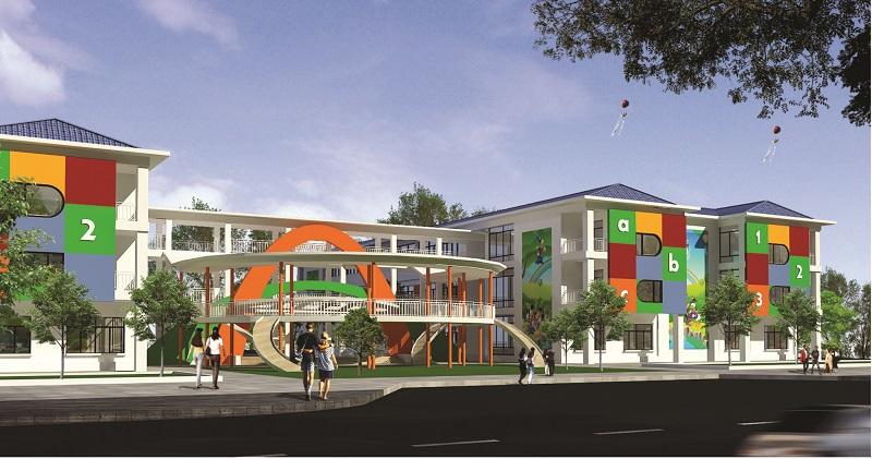 Trường mầm non dự án Mê Linh Vista City 2020