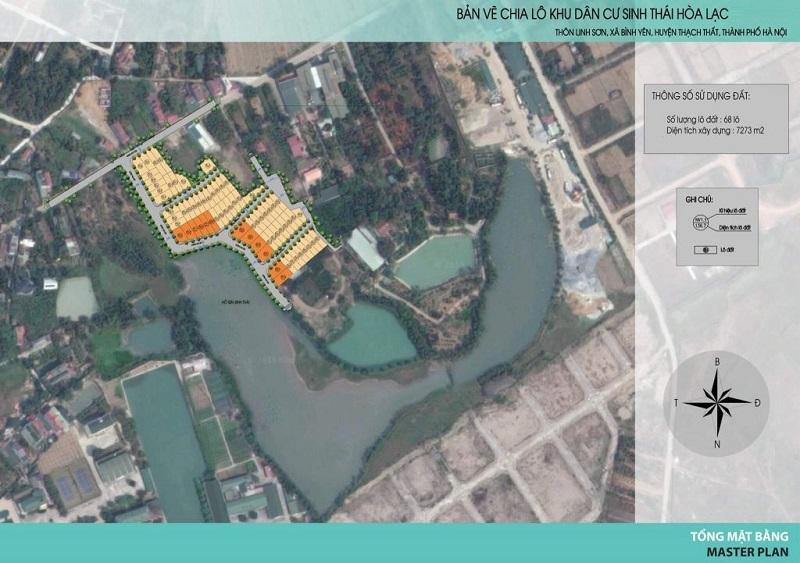 Vị trí 71 lô đất nền Hòa Lạc Lotus