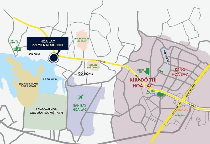 Vị trí dự án Hòa Lạc Premier Residence 2020