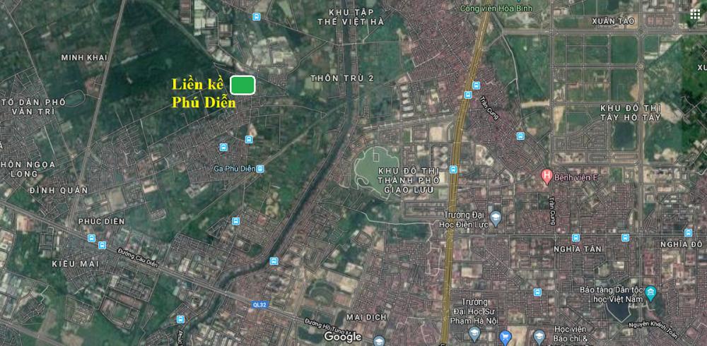 Vị trí dự án Liền kề Phú Diễn Vinadic