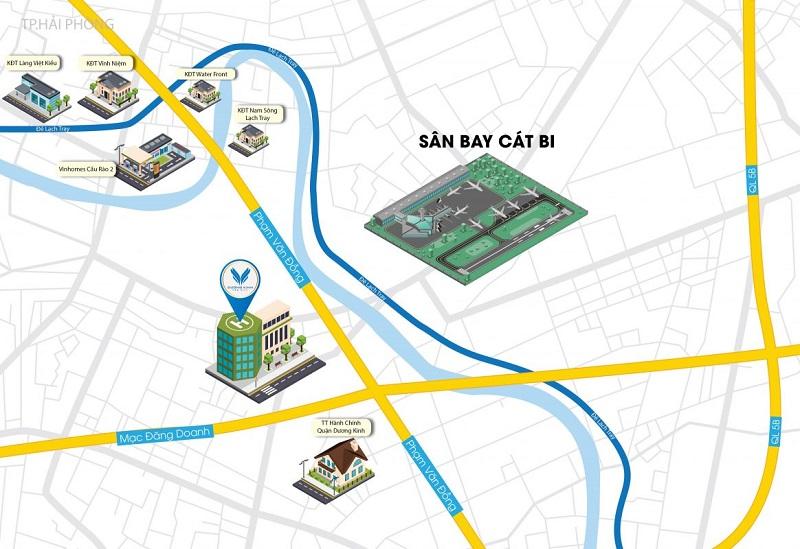 Vị trí dự án Dương Kinh New City - Anh Dũng 6 Hải Phòng