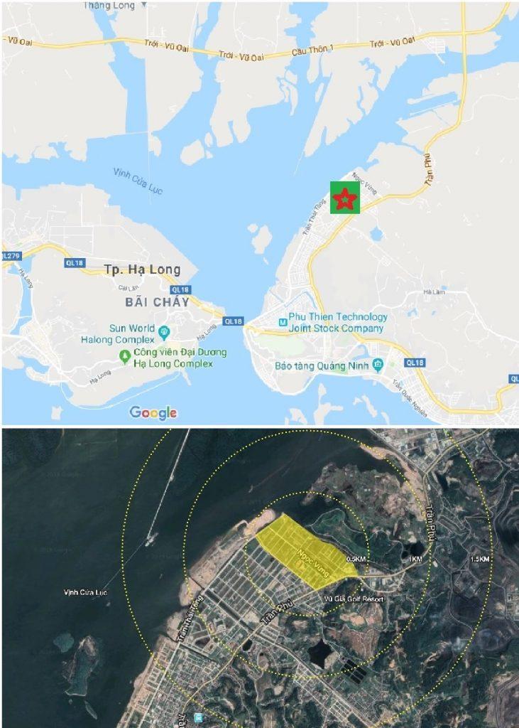 Vị trí dự án Feni City Hạ Long - Cao Xanh Hà Khánh C