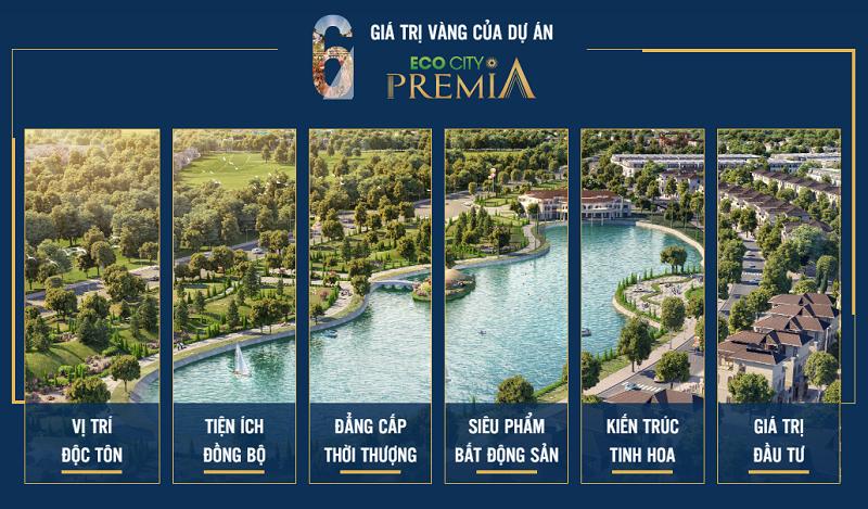 6 giá trị vàng dự án Eco City Premia Buôn Ma Thuột