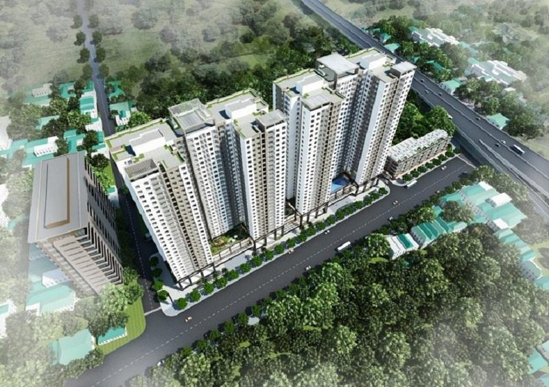 Phối cảnh 1 dự án Phương Đông Green Park số 01 Trần Thủ Độ