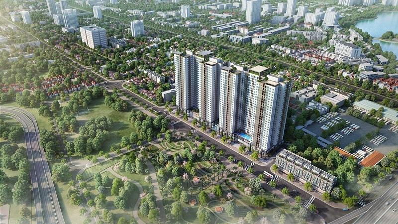 Phối cảnh dự án Phương Đông Green Park số 01 Trần Thủ Độ