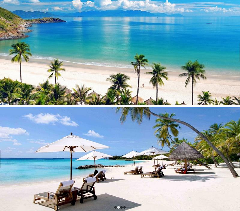 Bãi biển trước Vinpearl Oasis Hòn Tre - Nha Trang