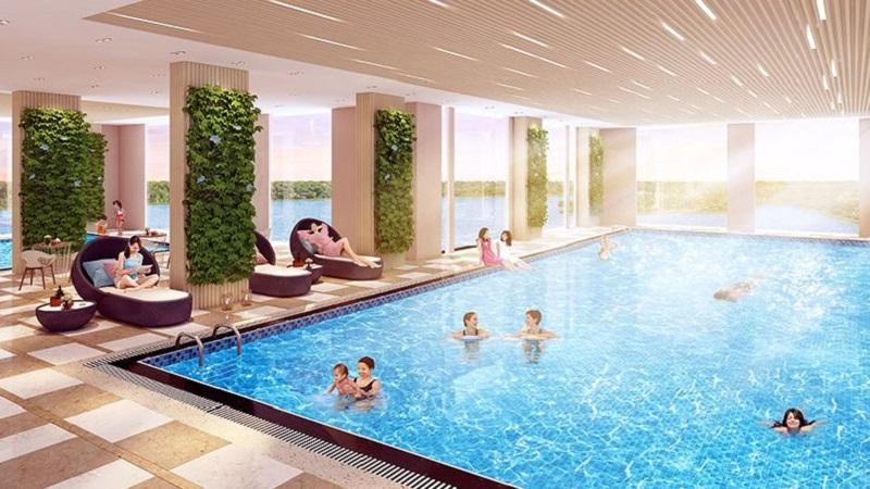 Bể bơi bốn mùa chung cư The Dandelion Residence Gamuda Yên Sở
