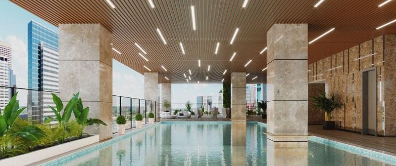 Bể bơi dự án Han Jardin N01 T6-T7 Ngoại Giao Đoàn