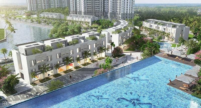 Bể bơi vô cực tại chung cư Sky Oasis Ecopark