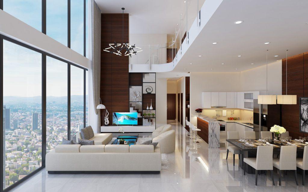 Căn hộ thông tầng 20-21 chung cư Sky Oasis KĐT Ecopark