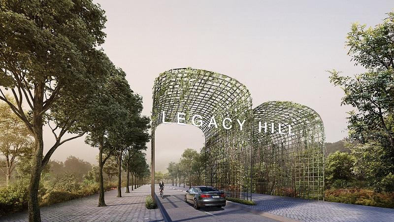 Cổng dự án Legacy Hill Lương Sơn - Hòa Bình