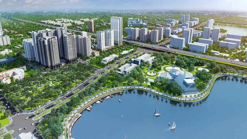 Công viên Nhân Chính cạnh chung cư Harmony Square 199 Nguyễn Tuân