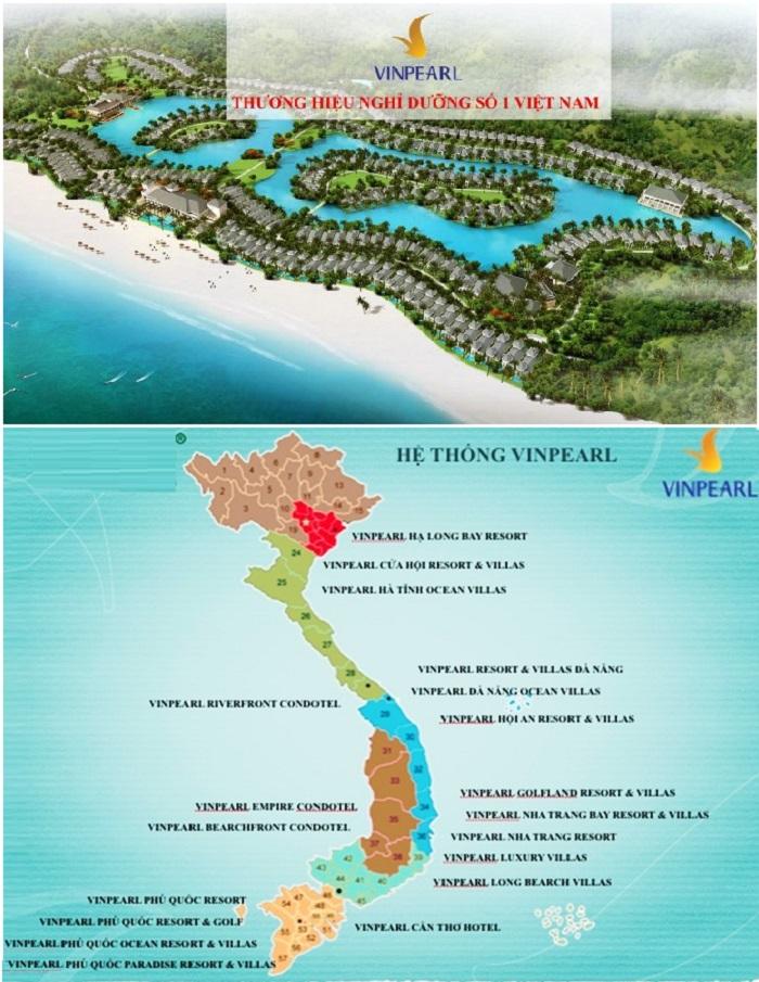 Vinpearl Tuyên Quang nằm trong chuỗi hệ thống nghỉ dưỡng Vinpearl