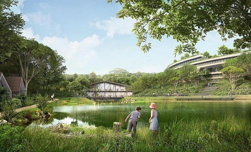 Hồ nước dự án Legacy Hill Lương Sơn - Hòa Bình