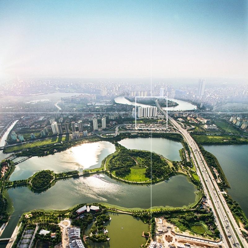 Không gian thoáng đãng gần 2 hồ của dự án Phương Đông Green Park số 01 Trần Thủ Độ