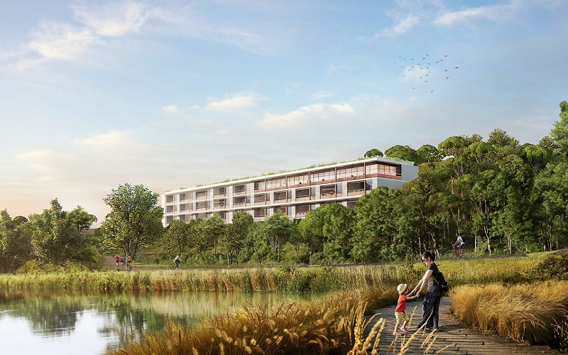 Không gian xanh dự án Legacy Hill Lương Sơn - Hòa Bình
