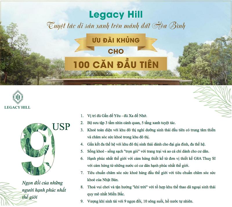 Lý do nên sở hữu ngay biệt thự dự án Legacy Hill Lương Sơn - Hòa Bình