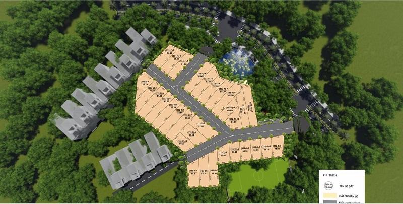 Tổng mặt bằng 31 lô đất nền Sen Trì - Bình Yên - Thạch Thất- Hòa Lạc