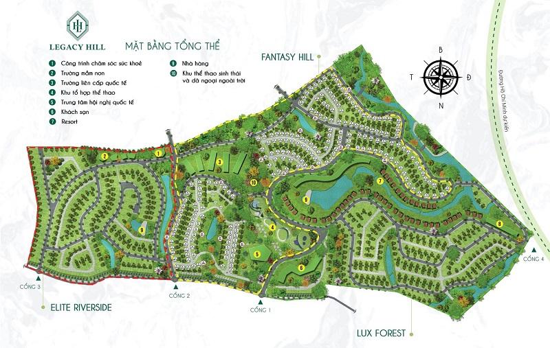 Mặt bằng tổng thể dự án Legacy Hill Lương Sơn - Hòa Bình