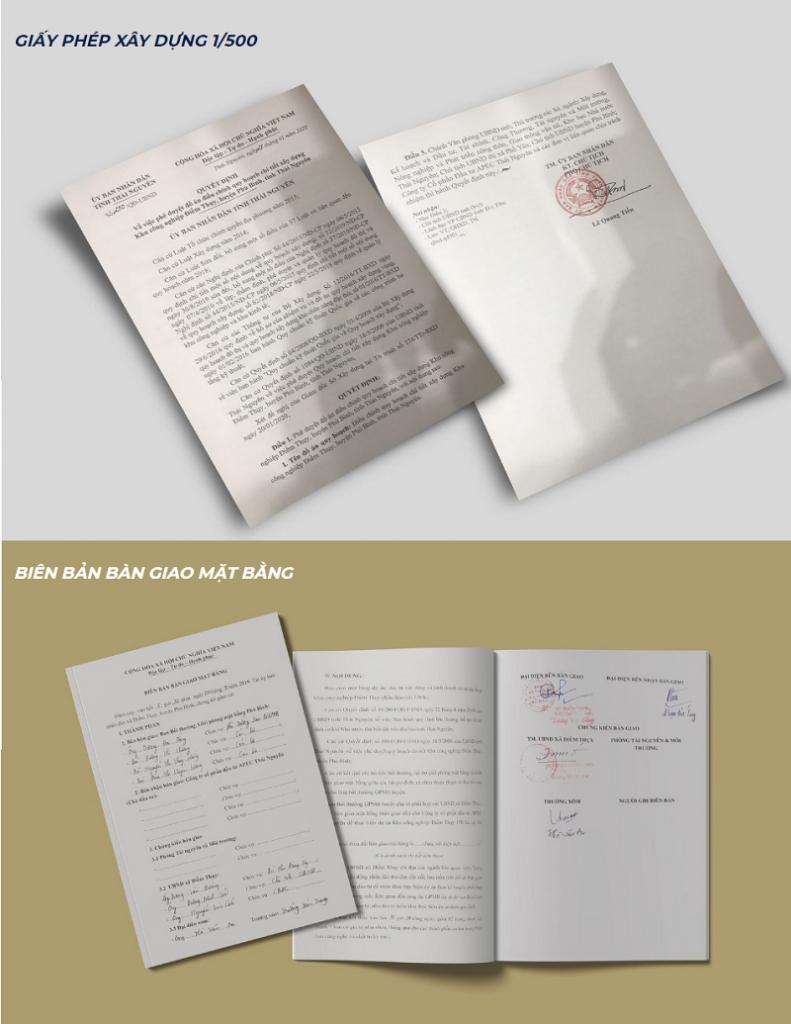 Pháp lý dự án Apec Điềm Thụy Center Point Thái Nguyên