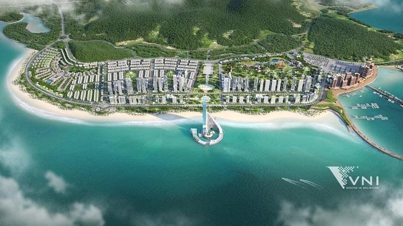 Phối cảnh 1 dự án Domino Hạ Long 99 tầng của Sungroup