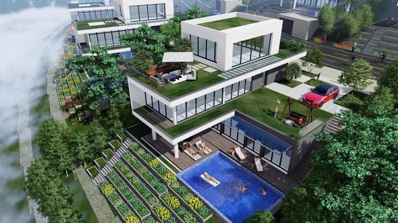 Phối cảnh biệt thự 1 dự án Legacy Hill Lương Sơn - Hòa Bình
