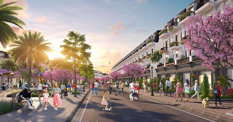 Phối cảnh nhà phố vườn dự án Eco City Premia Buôn Ma Thuột